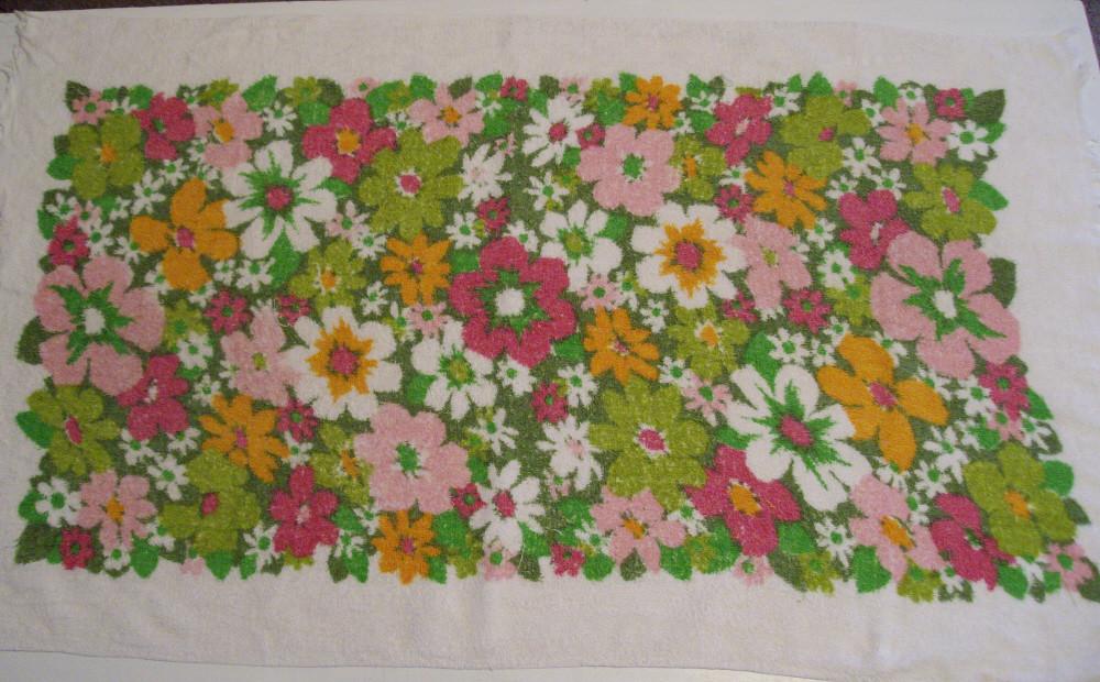 Vintage Floral Towel 5