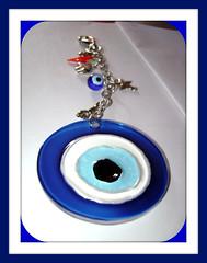 chaveiro olho grego por MANDALAS & Cia