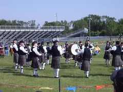 Macalister Pipe Band competing level 3