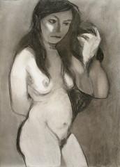 Untitled (Carlos Gomis) Tags: woman art hair nude mujer erotic venus arte drawing eros muse charcoal nakedwoman dibujo musa carboncillo gomis nudewoma