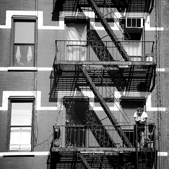 Summer Morning (roeyahram) Tags: newyorkcity summer newyork building manhattan fireescape