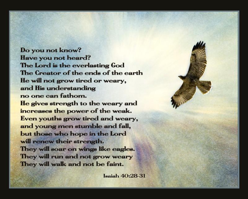 Isaiah 40:28-31 textured