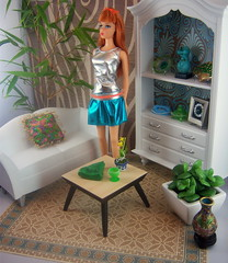 Apartment Living (partydolly) Tags: scale modern vintage one miniatures mod pics furniture ooak room 4 barbie rosa accessories custom tnt rement titan sixth reproduction diorama dollhouse playscale zokko lizretros partydolly
