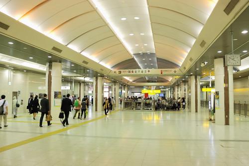 Above Tokyo Station Keiyo Line Platform