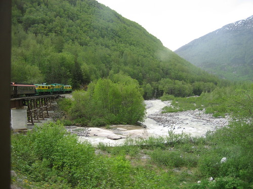 view from white pass train skagway yukon