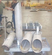 Stainless Steel Stanchions for a Power Company