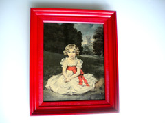french girl (amye123) Tags: trees red portrait castle english girl wall vintage french countryside bright cottage homemade frame decor homedecor pictureframe reclaimed cherryred upcycle applered sirfgirlbybay amye123