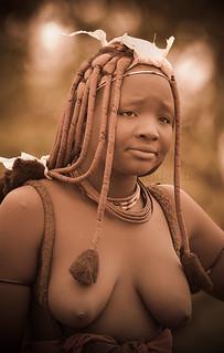 Kamanjab, Namibia. Himba portrait.