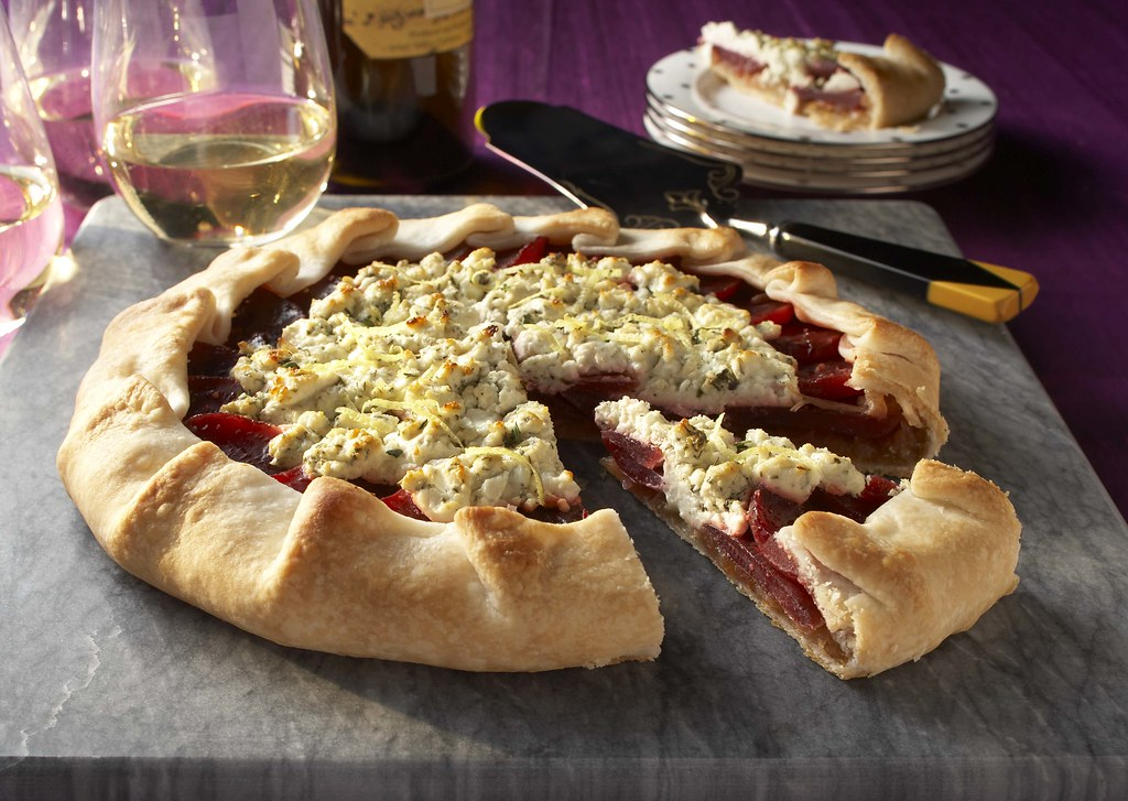 Savory Beet and Goat Cheese Tart