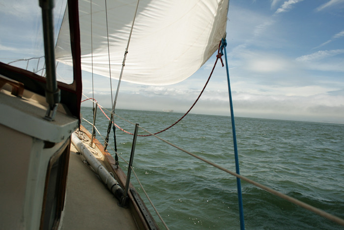 Sailing Heeled Over in San Francisco Bay