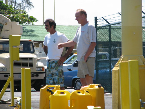 Mike and Peter refuel