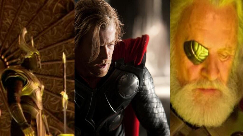 2011 Marvel Thor movie Loki, Thor and Odin