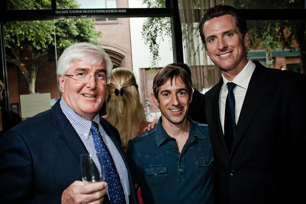 Ron Conway, Marc Pincus, Gavin Newsom