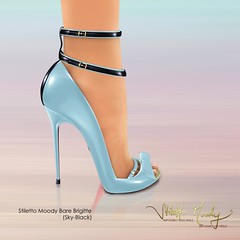Stiletto Moody Bare Brigitte (Sky-Black) (Stiletto Moody) Tags: leather cutout foot shiny toes toe shine heart bare kaleidoscope pump bow strap zipper peep python specular sole ankle spectator maryjane brigitte sculpted bootie peeptoe patent moodys anklestraps stilettomoody badseedred footinshoe spring2010 wildatheartcollection