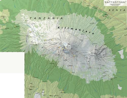 Routes+up+kilimanjaro+map