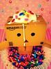 (Sock Hop Adoption Shop) Tags: toy actionfigure japanese robot manga figure yotsuba danbo revoltech jfigure boxrobot danboard revoltechdanbo