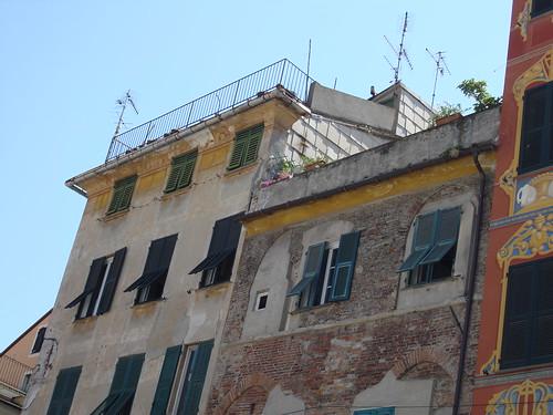 Chiavari Ligurien Häuserfassade
