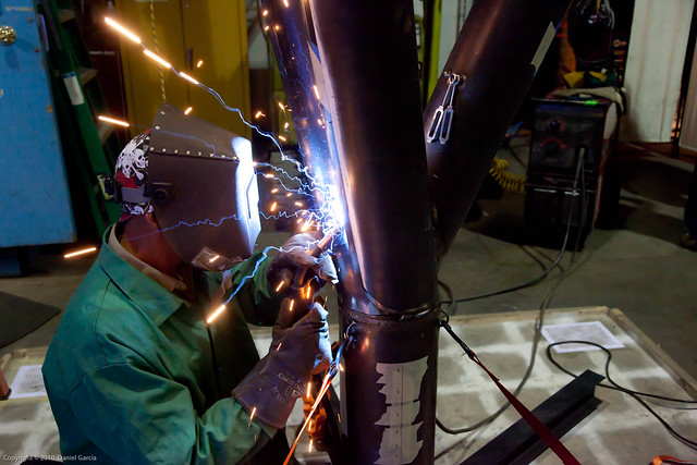 Welding the arms