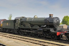 Great Western Railway 4073 Class locomotive 5051 'Earl Bathurst' 1936 - Didcot Railway Centre, Didcot, Oxfordshire, England. (edk7) Tags: uk england museum 1936 steam locomotive didcot oxfordshire 2010 gwr d300 didcotrailwaycentre greatwesternrailway 5051 earlbathurst 4073class edk7