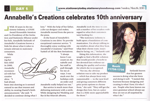 We were featured in the Day 1 Edition of Stationery Today!