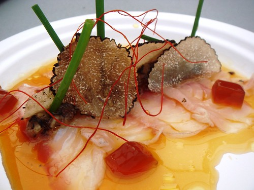 Dinings - Sea Bass Carpaccio with Ponzu Jelly and Fresh Truffle