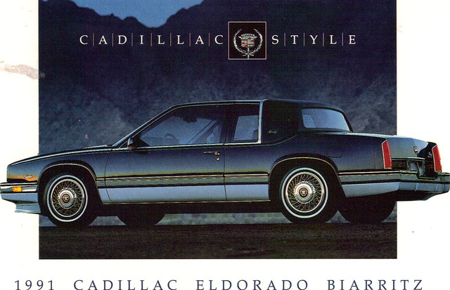 auto old art classic cars hardtop car illustration truck vintage magazine cards flyer automobile post antique album postcard ad cadillac eldorado advertisement vehicles card postcards vehicle trucks 1991 autos collectible collectors brochure coupe automobiles biarritz 91 dealer prestige