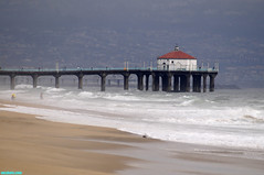MBPier1425 (mcshots) Tags: ocean california sea usa beach nature water pier losangeles surf waves stock socal mcshots swells mb smrgsbord 060810
