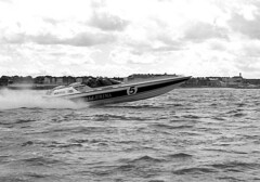 PB78 73 (Tony Withers photography) Tags: classic monochrome boat seaside power offshore august racing historic boating 1978 championships powerboats 1970s excitement margate thanet allhallows isleofthanet noeledmonds tonywithers tonywithersphotography