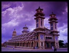 Tay Ninh Holy See (eric+x) Tags: 120 mamiya 645 slide vietnam fujifilm tayninh rvp100 protl