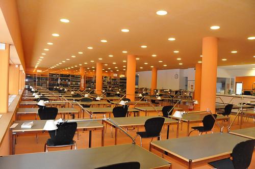 Lesesaal Staatsarchiv Hamburg (Fotografin: Corinna Jockel)