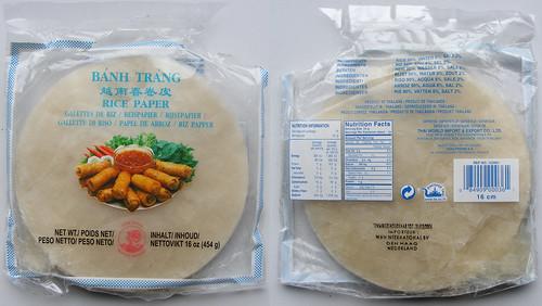 Vietnamees Rijstpapier, bang trang