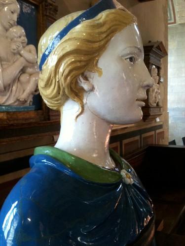 della Robbia terracotta bust, Bargello
