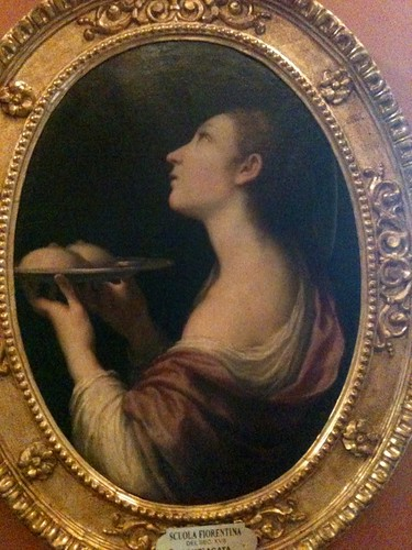 St Agatha with her breasts on a plate