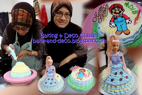 Batch 20 October 2010: Combo B - Drawing on Buttercream Cake + Buttercream Doll Cake
