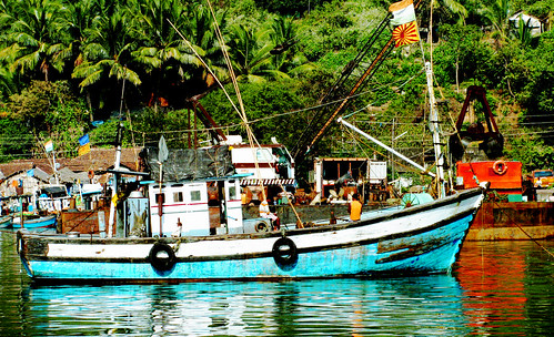 Fisherman boat in Karwar