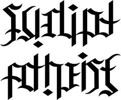 """""""Sudipt"""" & """"Athiest"""" Ambigram"""