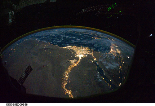 the world from space at night. A collection of night images