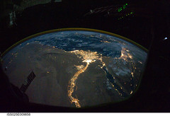 Cairo and Alexandria, Egypt at Night (NASA, International Space Station Science, 10/28/10) (NASA's Marshall Space Flight Center) Tags: alexandria egypt nasa cairo mediterraneansea gulfofaqaba sinaipeninsula internationalspacestation gulfofsuez d3s iso20000 stationscience crewearthobservation
