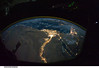Cairo and Alexandria, Egypt at Night (NASA, International Space Station Science, 10/28/10) (NASA's Marshall Space Flight Center) Tags: alexandria egypt nasa cairo mediterraneansea gulfofaqaba sinaipeninsula internationalspacestation gulfofsuez d3s iso20000 stationscience crewearthobservation