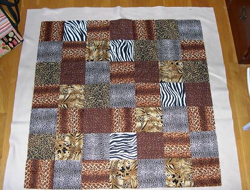 Fleece-Backed Quilt - Step 1