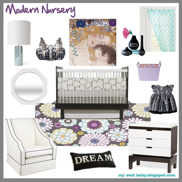 modern nursery design board