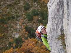 Le Diedre Sud - smiling to cover the pain! (undiscoveredalps) Tags: france holidays climbing activity rockclimbing frenchalps orpierre undiscoveredalps