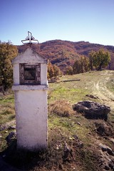 Shrine by the road (dkilim) Tags: nikon fuji mount greece macedonia reala fm2 agia sotira  voio