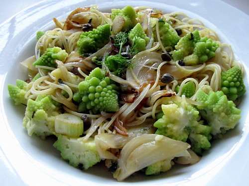 Capellini with Romanesco, Fennel, and Capers