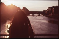 (bensn) Tags: bridge sunset summer italy film water 50mm florence back pentax f14 slide velvia 100 emi fa 2010 lx