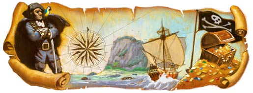 Google Robert Louis Stevenson's 160th Birthday