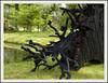 Troll sculpture (Jan Gee) Tags: wood sculpture art dark wooden object sculptuur arcen kasteeltuinen kunstwerk