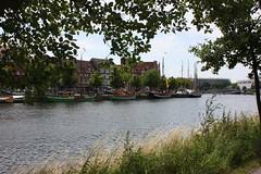 Untertrave (Von Noorden her) Tags: lübeck untertrave trave river germany habour hafen ship schiffe boat plants water wasser pflanzen bäume segel sails rave
