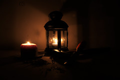 A lume di candela (cosimocarbone) Tags: candela candle buio lavoro atmosfera