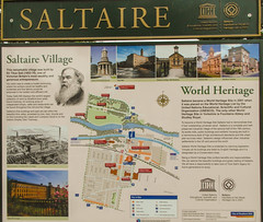 250 -  Saltaire Village Info Board (1 of 1) (md2399photos) Tags: 2jun17 almshouses davidhockney robertspark saltaire saltaireunitedreformedchurch saltsmill victoriahall
